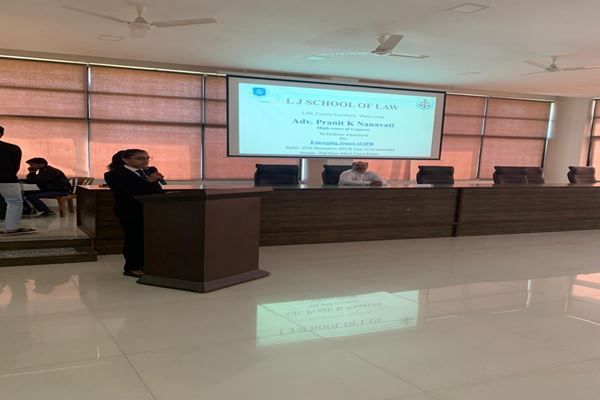 Guest Session on Emerging Issues of IPR by Adv. Pranit Nanavati-img